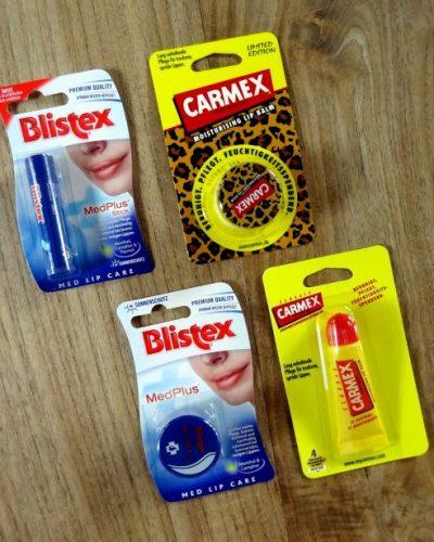 In de mix: Carmex en Blistex lippenbalsem