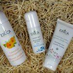Erica Kruiderijen: Calendula reinigingsschuim, zilverdeo en groene klei masker