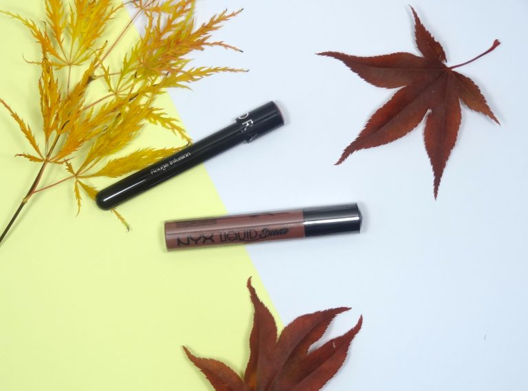 Sephora Lip Ink Rouge Infusion en NYX Liquid Suede Soft-Spoken