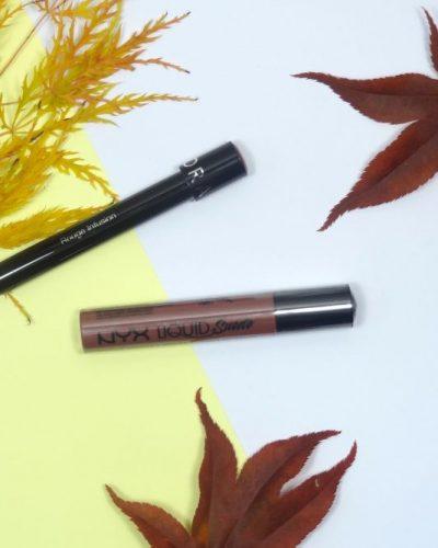 Herfstmix: Sephora Lip Ink Rouge Infusion en NYX Liquid Suede Soft-Spoken