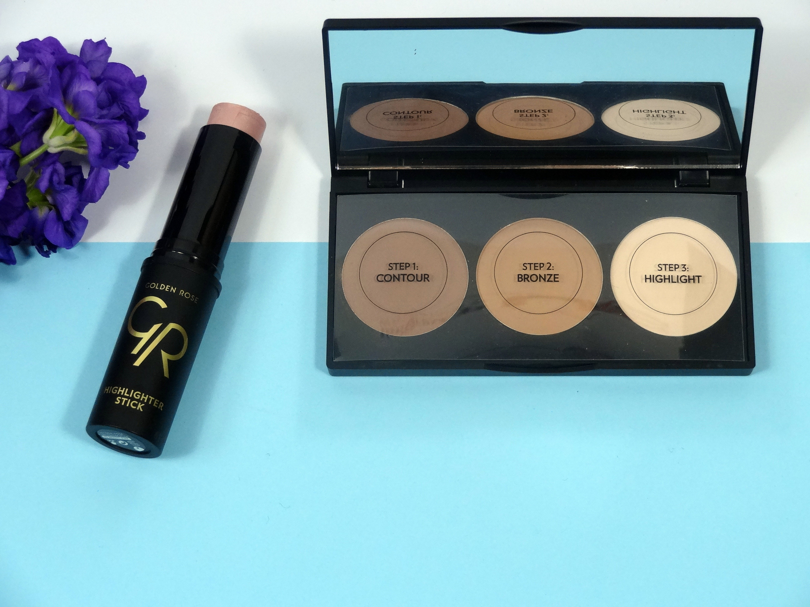 Golden Rose Contour Powder Kit en Highlighter stick