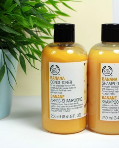 The Body Shop Banana Shampoo en Banana Conditioner
