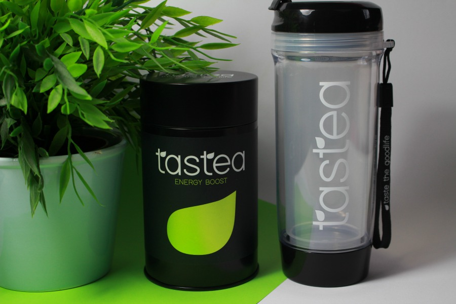 Tastea Energy Boost + theebeker