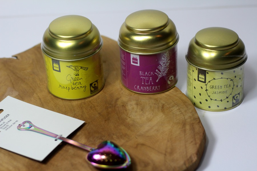 4ec9a87ff31 Hema thee: Green Tea Jasmin, Green Tea Rasberry en Black Tea Cranberry.