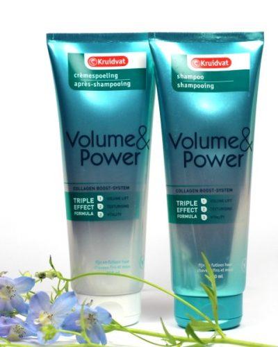 Kruidvat Volume&Power Shampoo en Crèmespoeling