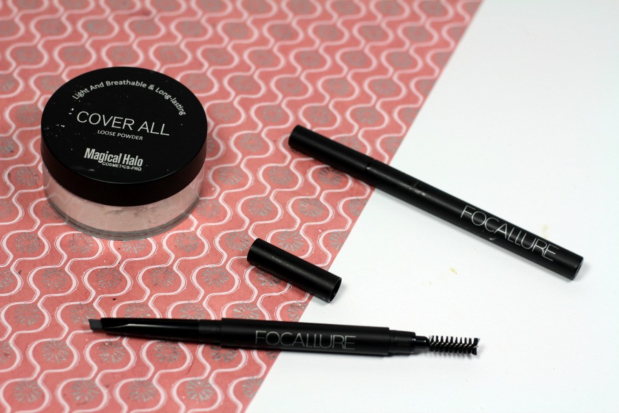 BeautyBigbang review: Cover All Loose Powder, Liquid Eyeliner en Eyebrow Pencil