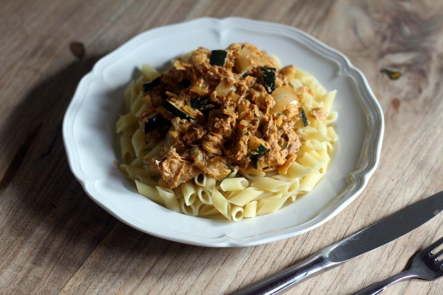 Suszie Serves: Pasta met courgette en tonijn