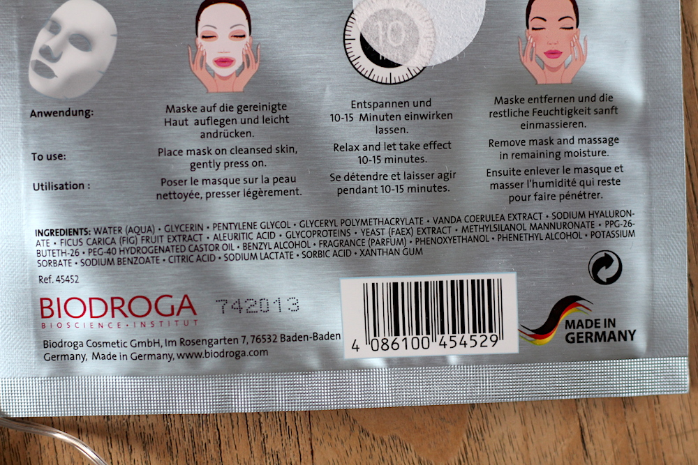 Biodroga Blue Orchid Sheet Mask