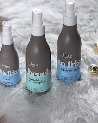 This is it No Frizz Invisible Hair Oil Serum, No Frizz Detangling Spray en Beach Texturising Sea Salt spray