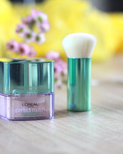 L'Oréal Perfect Match Minerals foundation en L'Oréal Minerals Powder Brush