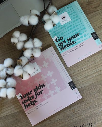 MILU maskers: Soothing Hydrogel Mask en Bubble Foam Sheet Mask